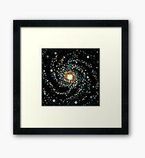 Messier 101 (8bit) Framed Print