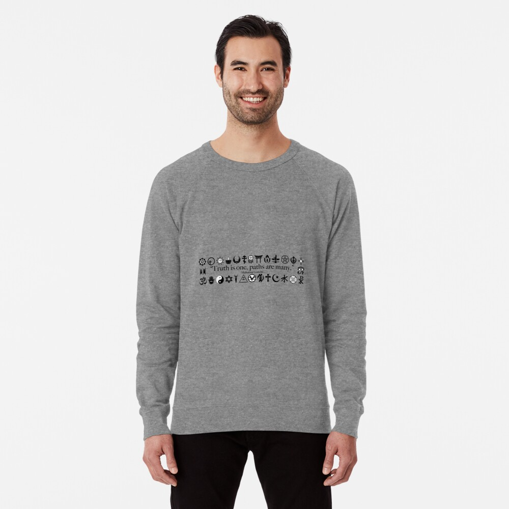 Truth Is One, Paths Are Many - World Religions Lightweight Sweatshirt