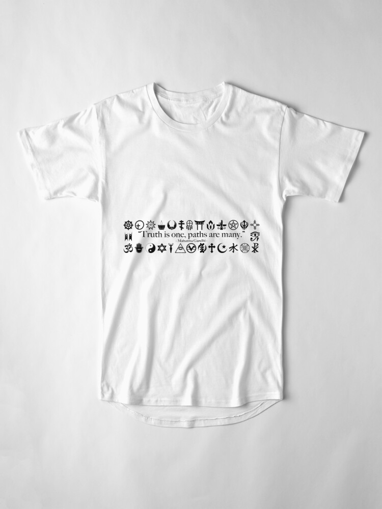 Alternate view of Truth Is One, Paths Are Many - World Religions Long T-Shirt