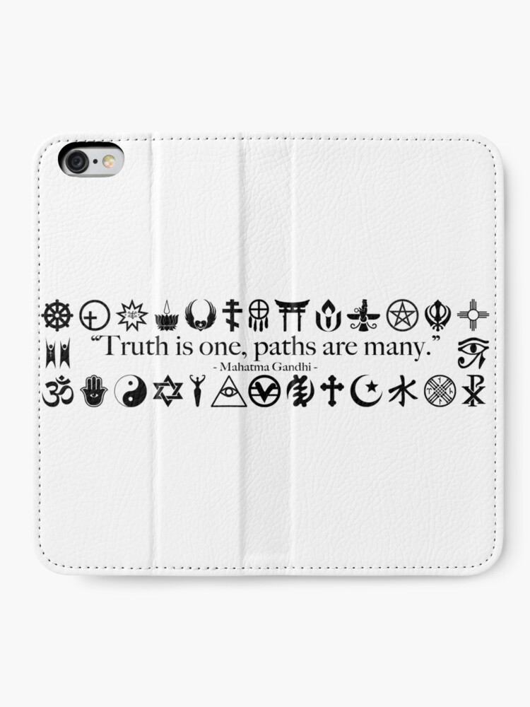 Alternate view of Truth Is One, Paths Are Many - World Religions iPhone Wallet