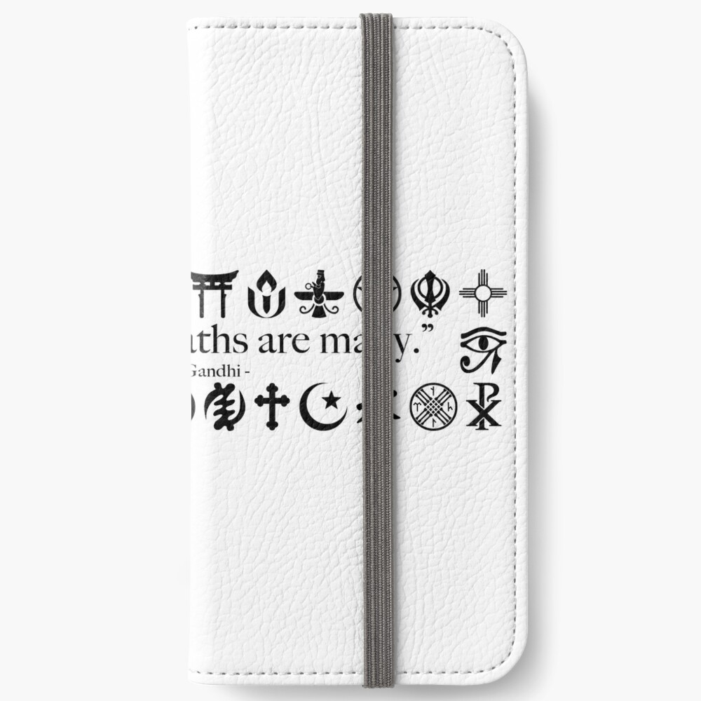 Truth Is One, Paths Are Many - World Religions iPhone Wallet