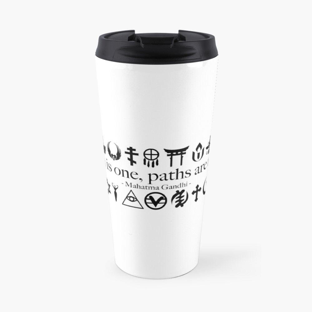 Truth Is One, Paths Are Many - World Religions Travel Mug