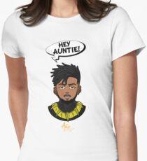 Eric Killmonger ''Hey Auntie!'' Women's Fitted T-Shirt