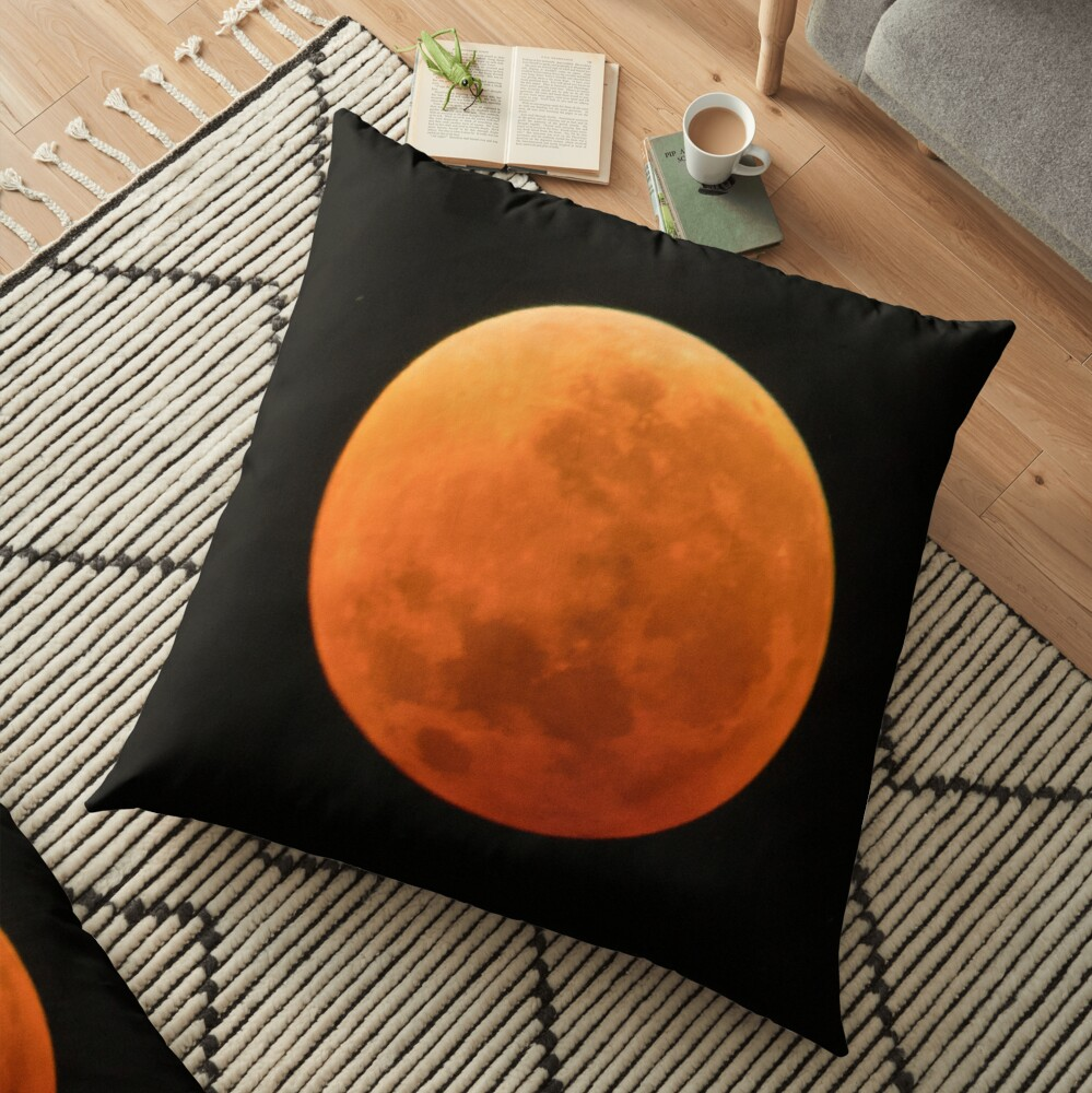 Super Blue Blood Moon Astronomy Graphic Floor Pillow