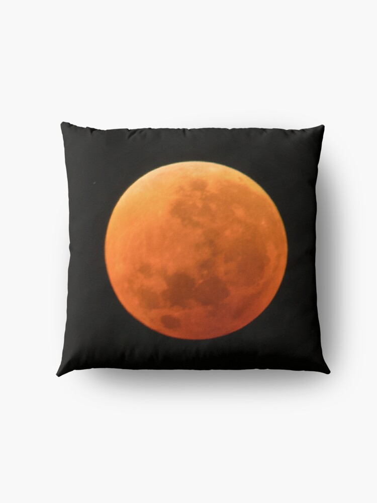 Alternate view of Super Blue Blood Moon Astronomy Graphic Floor Pillow