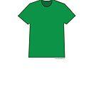 Green T-shirt Tee shirt by hmattiam