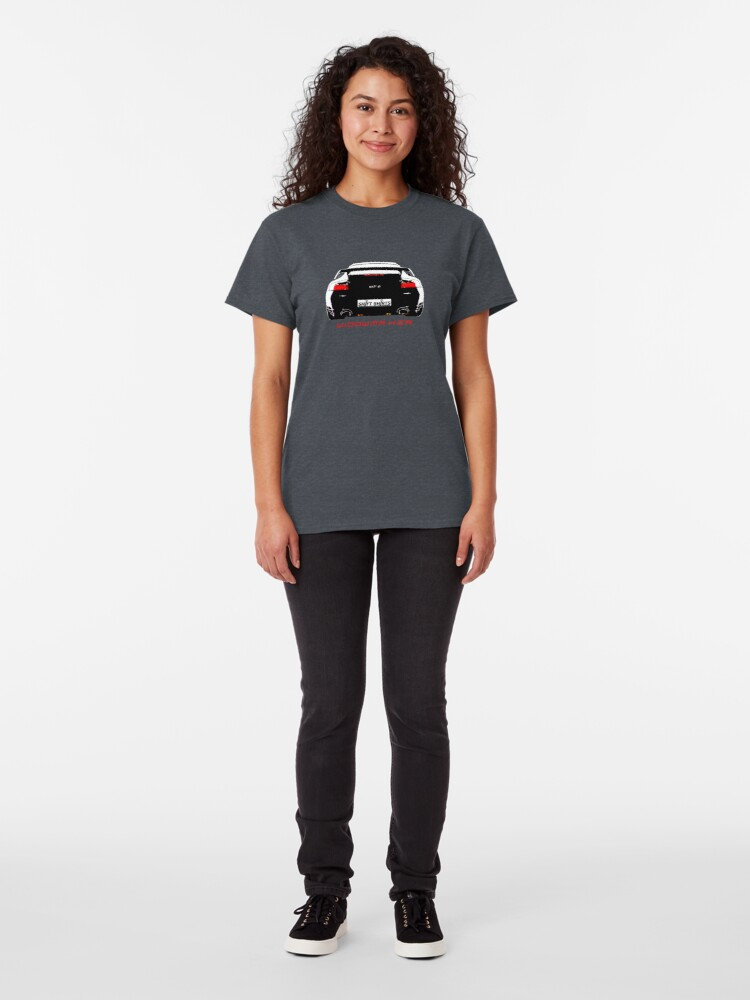 Alternate view of Shift Shirts Black Widow – Porsche 911 996 GT2 Inspired Unisex T-Shirt Classic T-Shirt