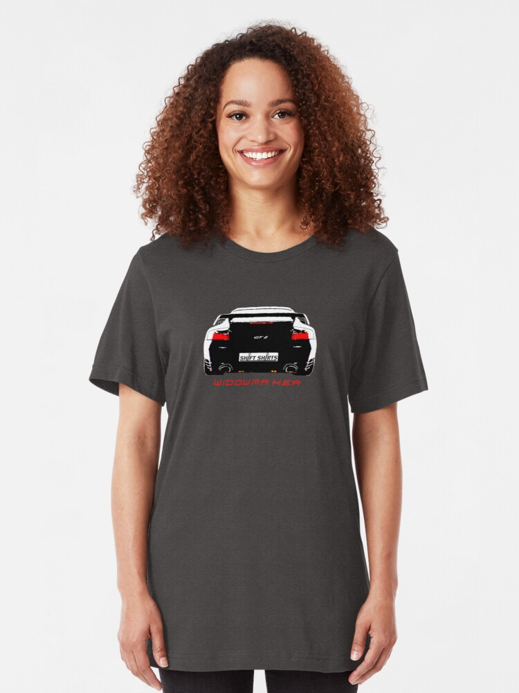 Alternate view of Shift Shirts Black Widow – Porsche 911 996 GT2 Inspired Unisex T-Shirt Slim Fit T-Shirt