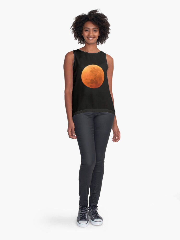 Alternate view of Super Blue Blood Moon Astronomy Graphic Sleeveless Top