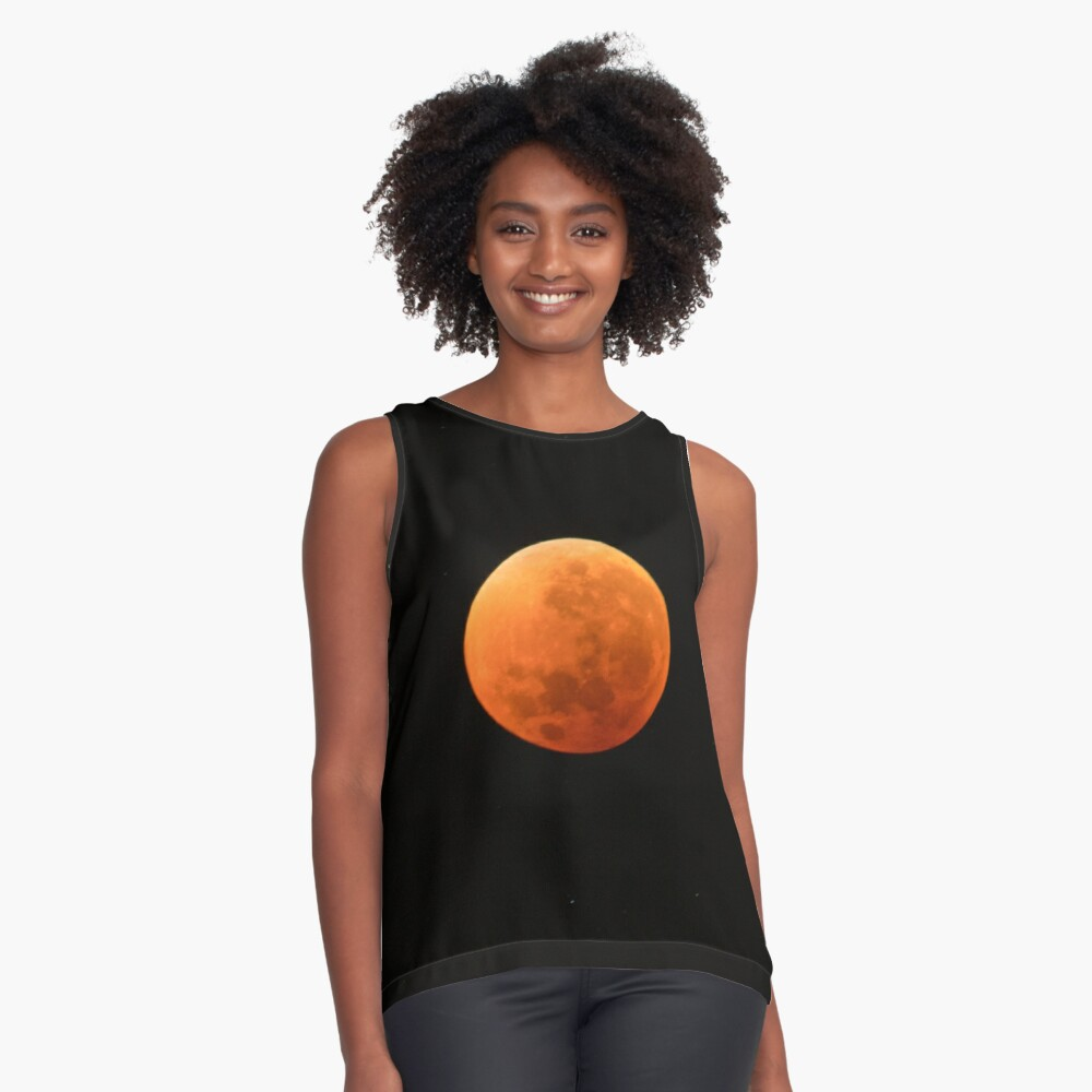 Super Blue Blood Moon Astronomy Graphic Sleeveless Top
