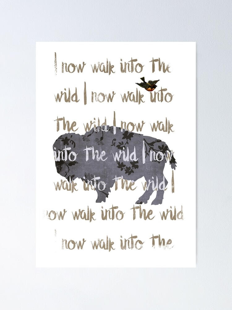Alternate view of Walk into the wild Poster