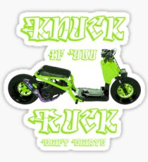 Shift Shirts Knuck If You Ruck – Ruckus Inspired Sticker