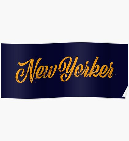 Used New Yorker Hand Lettering Poster