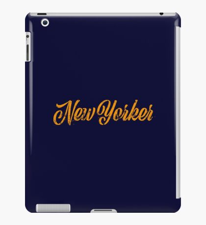 Used New Yorker Hand Lettering iPad Case/Skin