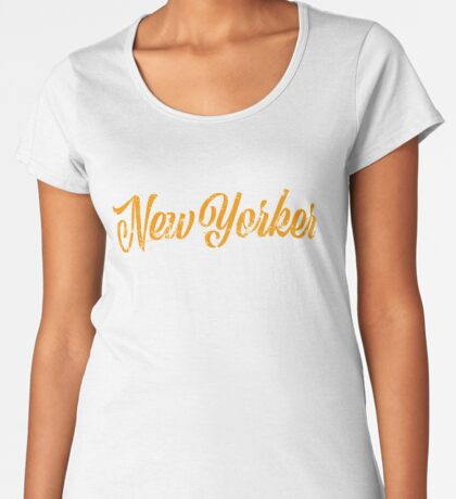 Used New Yorker Hand Lettering Premium Scoop T-Shirt