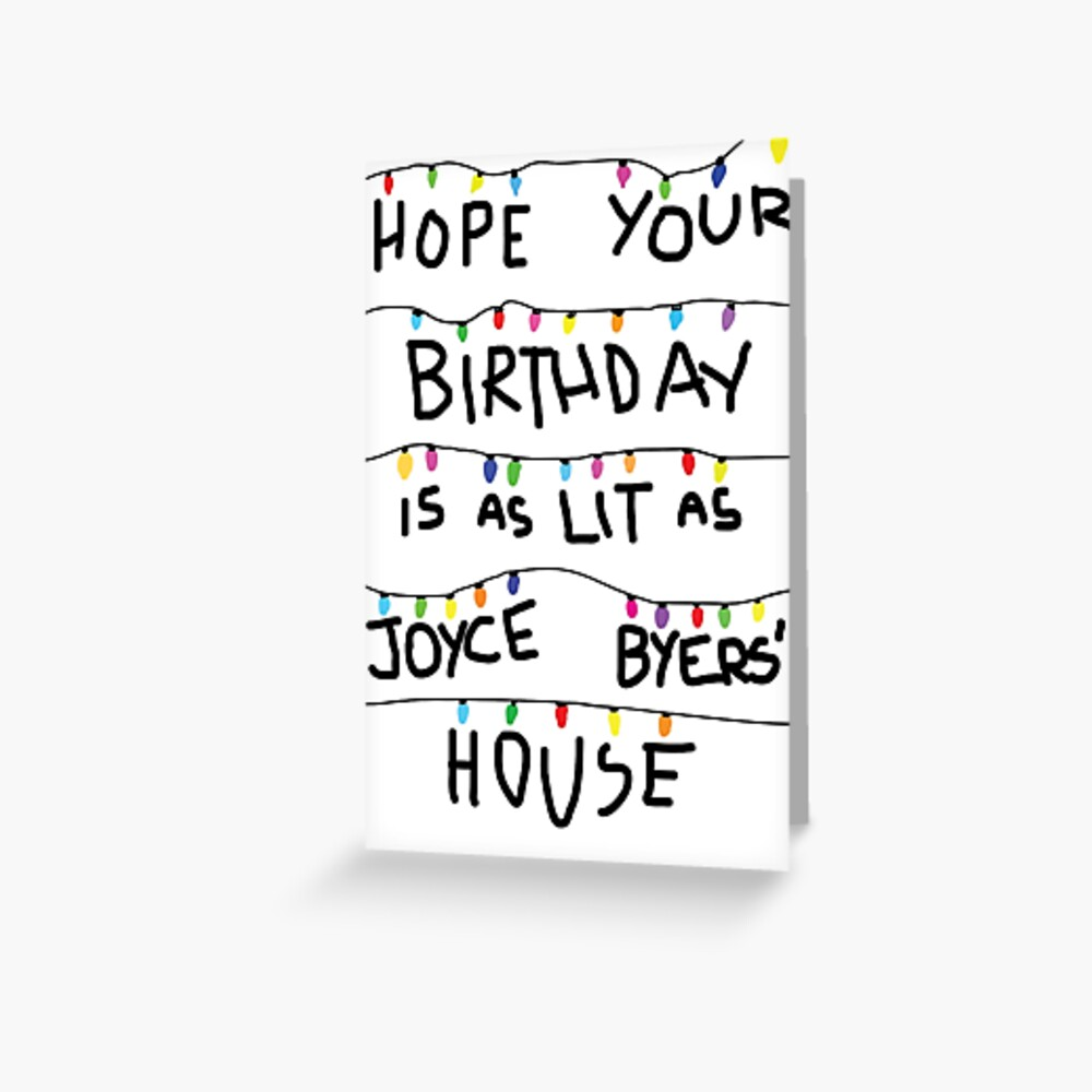 Lit Birthday Card (buy #2 not this one) Greeting Card