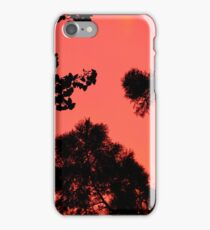 Sunset in orange. iPhone Case/Skin