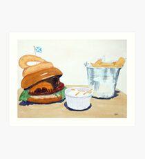 The Westport Burger Art Print