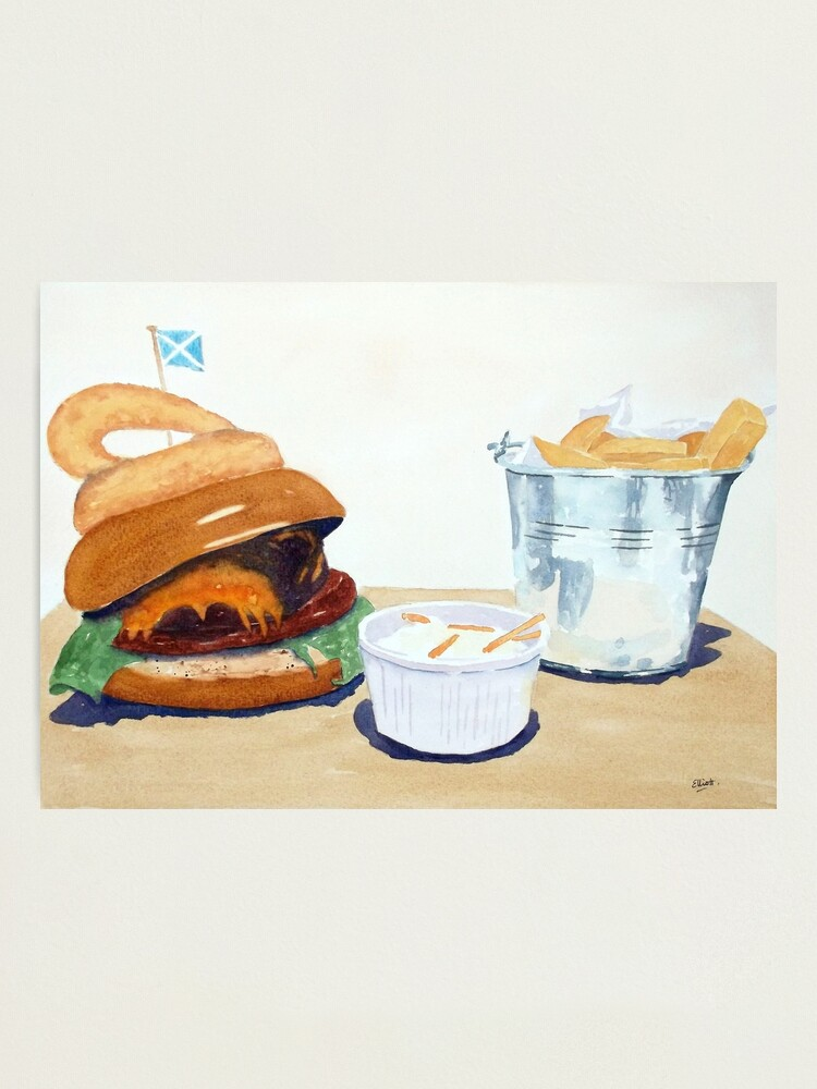 Alternate view of The Westport Burger Photographic Print