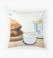 The Westport Burger Throw Pillow