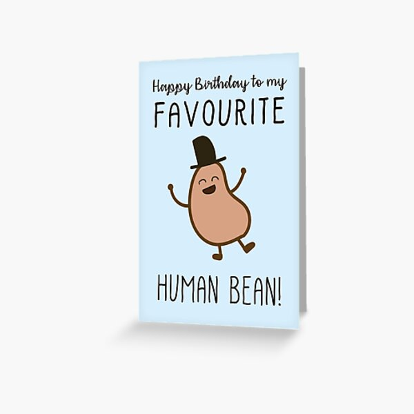 Human Bean Card Greeting Card