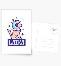 Spacedog Laika Postcards