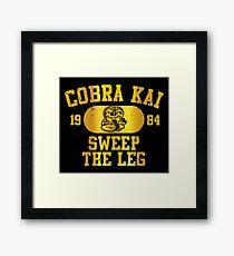 Kobra Kai Gerahmtes Wandbild