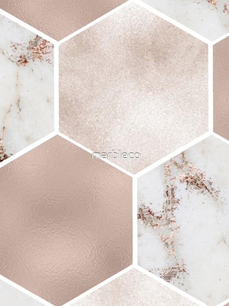 Artico Marmor Rose Gold Perle Sechsecke von marbleco