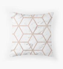Olympia Rose Marmor Geometrie Kissen