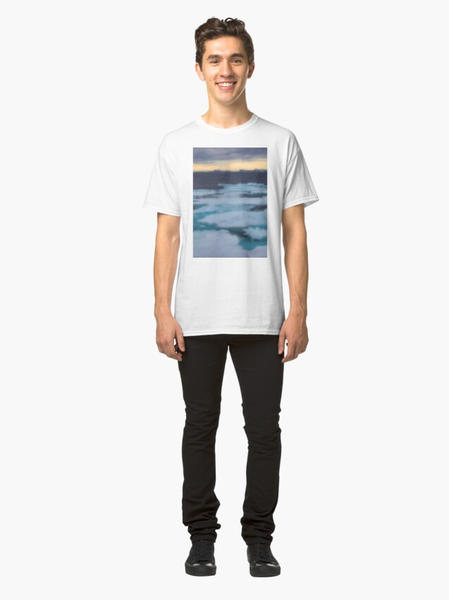 Alternate view of Nordkappsundet Mountains and Ice Field Classic T-Shirt