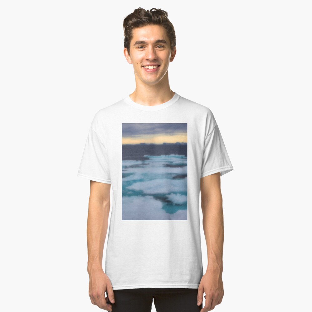 Nordkappsundet Mountains and Ice Field Classic T-Shirt