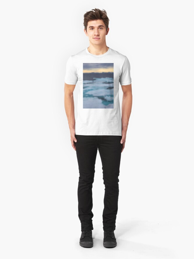 Alternate view of Nordkappsundet Mountains and Ice Field Slim Fit T-Shirt