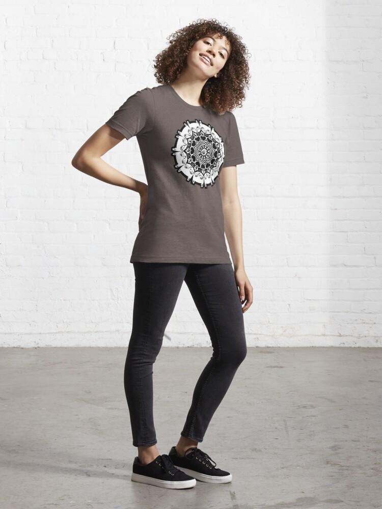 Alternate view of Mizzledala - cat mandala Essential T-Shirt