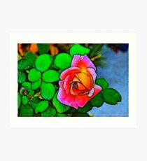 A Fractalius Rose Art Print
