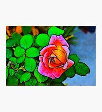 A Fractalius Rose Photographic Print
