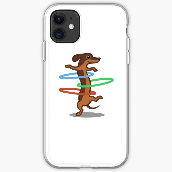 Funny Dachshund HulahoopTshirt - Dog Gifts for Doxie and Sausage Dog Lovers iPhone Soft Case