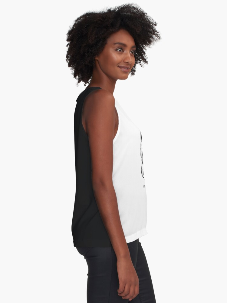 Alternate view of Mindfulness. Best Done Bad Sleeveless Top