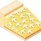 The Isometric Mushroom Pizza by aidadaism