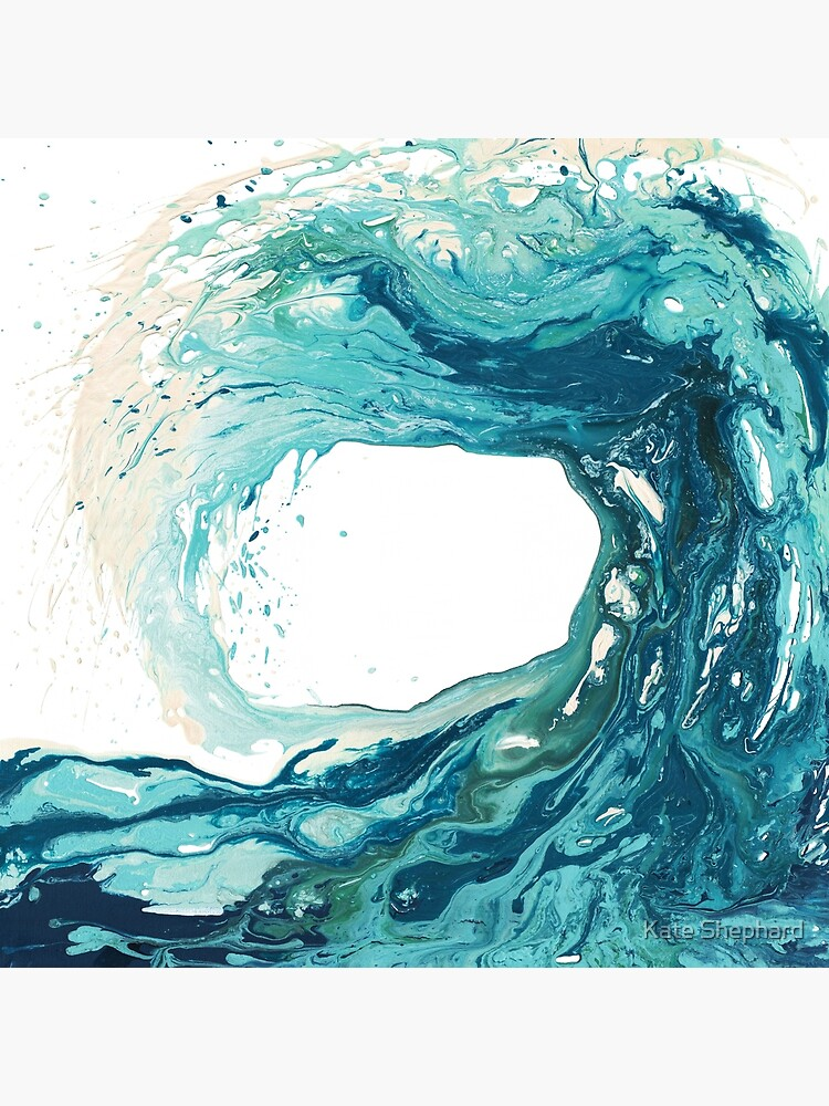 Ocean Wave Art Print Picture - Turquoise Sea Surf Beach Decor  by kateshephard