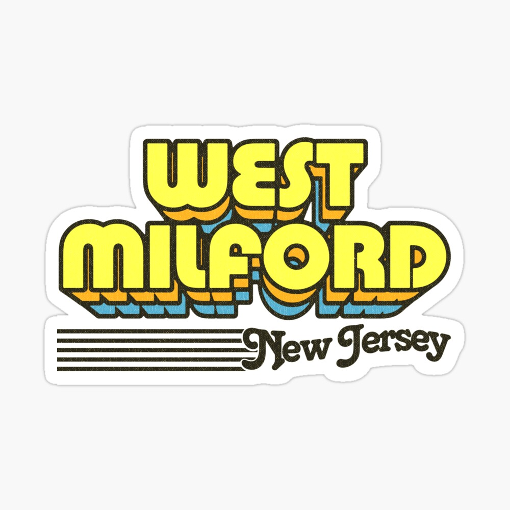 West Milford, New Jersey | Retro Stripes Sticker
