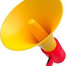 Megafon gelb und rot von lathspell