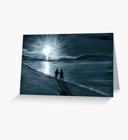Moonlight Stroll Greeting Card