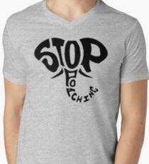 Stop Poaching Elephant: Black Men's V-Neck T-Shirt