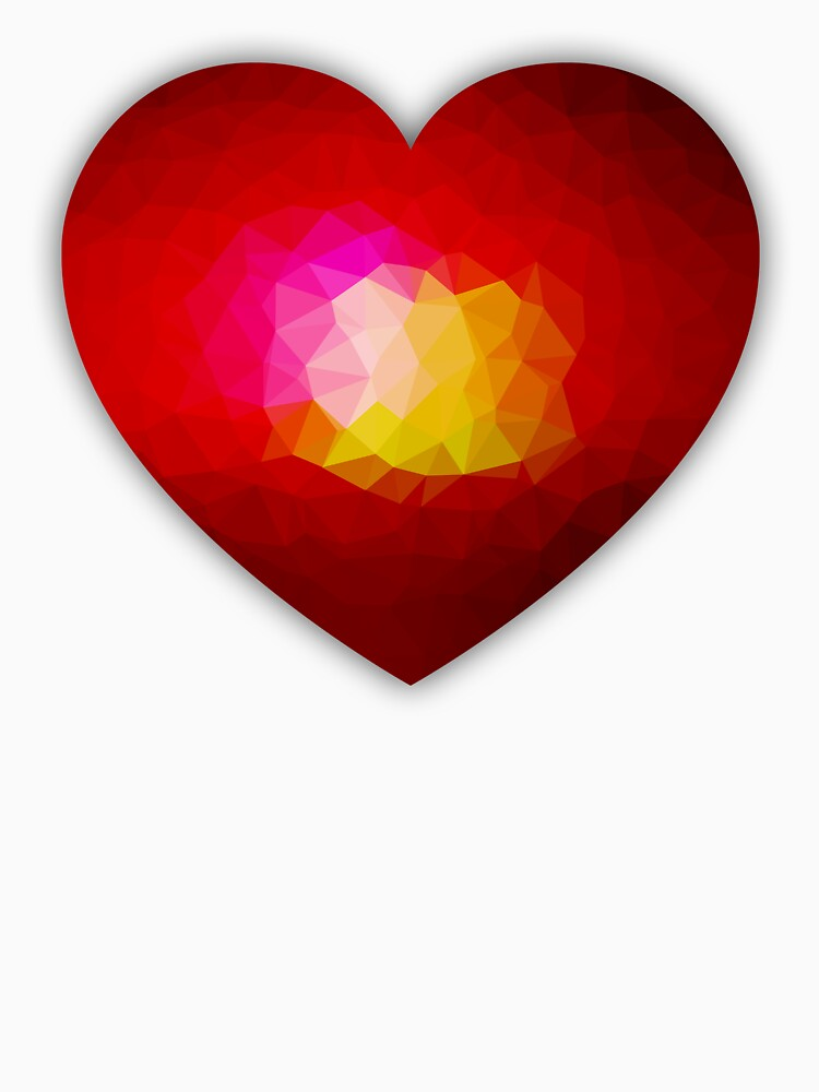 Red geometric burning heart by PLdesign