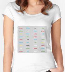 Stroop-Test englisch Tailliertes Rundhals-Shirt