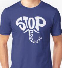 Stop Poaching Elephant: White Unisex T-Shirt