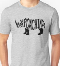 Stop Poaching Rhino: Black Unisex T-Shirt