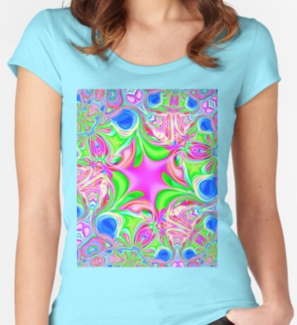 Colors, funky, funky! Fitted Scoop T-Shirt