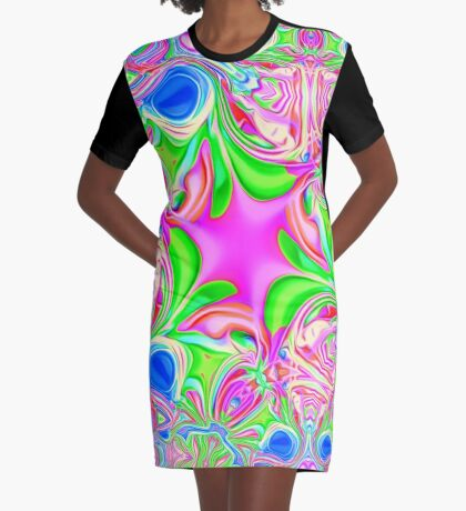 Colors, funky, funky! Graphic T-Shirt Dress