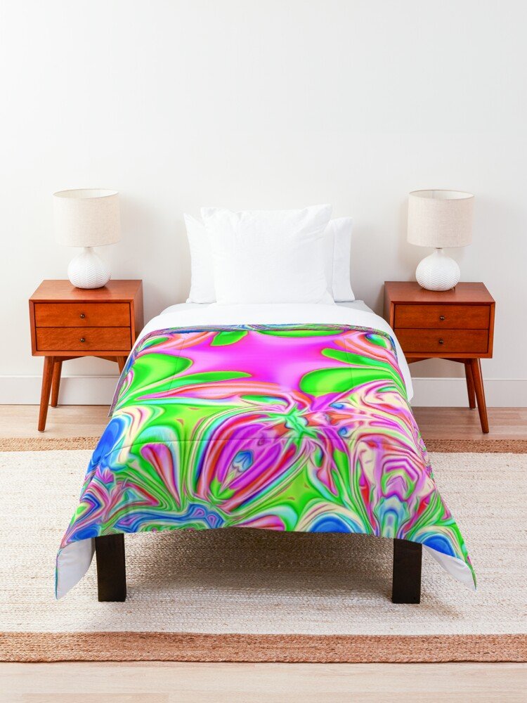 Alternate view of Colors, funky, funky! Comforter